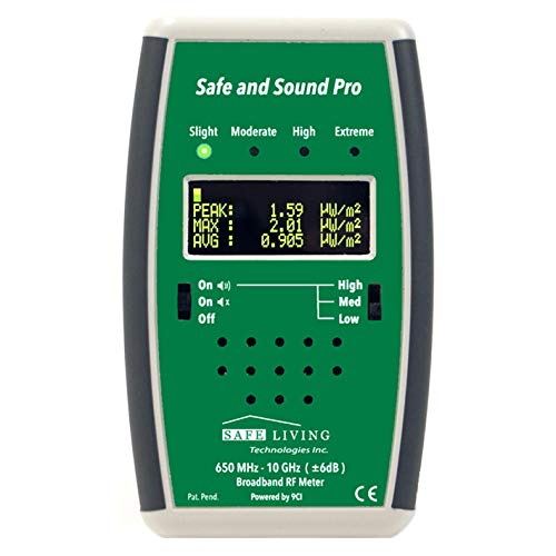 Safe and Sound PRO RF Meter 200MHz - 12GHz - Perfect for Measuring Cell  Phones, WiFi, Smart Meters, Etc