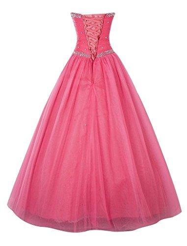 A Hell Abendkleider Braut Herzausschnitt Traegrlos Abiballkleider ballkleider Quincenera La Rosa mia Stickreien linie Lang 7qRnwwzx