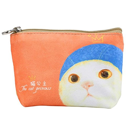 Cartoon Women Purses Zipper Wallet Canvas Iron Small Handbag Butterfly Cat Ladies Coin Purse Wallet T4wYBH