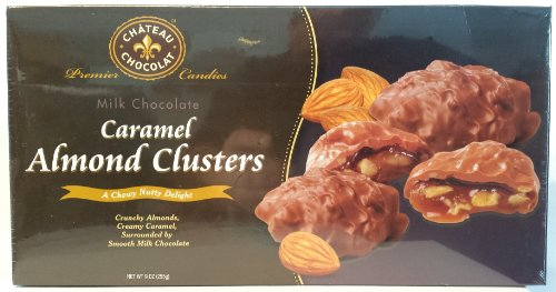 Milk Chocolate Covered Caramel Almond - Almond Milk Clusters Almond