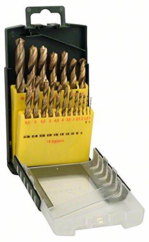 Bosch 2607017152 Metal Drill Bit-Set Hss-Tin 19 Pcs (Bosch Hss Drill)