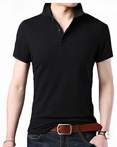 現在ガソリン屋内ITrustit ポロシャツ メンズ 半袖ポロシャツ 二重衿 無地 カジュアル ゴルフ シャツ ゴルフウェア シンプル 通気性 夏 87716