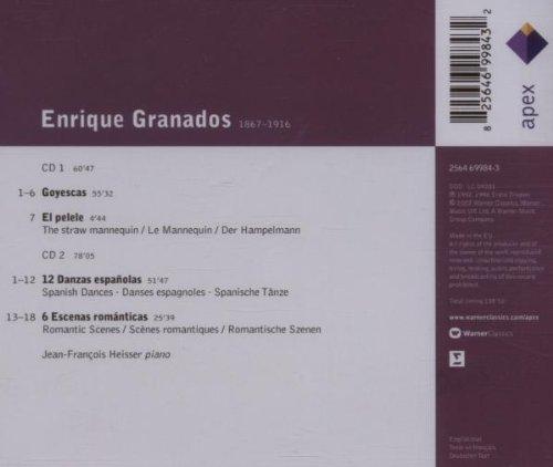HEISSER - Granados: Goyescas; El Pelele; 12 Danzas españolas (Spanish Dances); 6 Escenas románticas - Amazon.com Music
