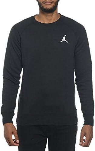 Nike Mens Jordan Jumpman Brushed Crew-Neck Sweatshirt Black//White 688997-010 Size 2X-Large