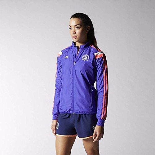 Women's Adidas 2015 Boston Marathon Anthem Jacket X-Small Purple (Running Marathon Jacket)