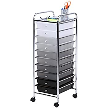 Honey-Can-Do CRT-05255 10 Drawer Shaded Storage Cart  sc 1 st  Amazon.com & Amazon.com: Honey-Can-Do CRT-02214 10 Drawer Multicolor Storage Cart ...