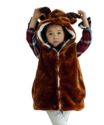 JOYHY Unisex Kids Animal Vest Hooded