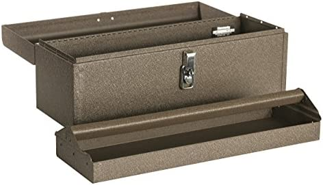 Kennedy Manufacturing 5220B 20 Hand-Carry Tool Box with Tote Tray, Tan Brown Wrinkle
