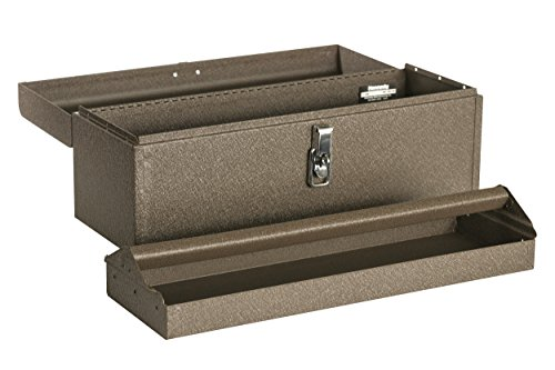 "Kennedy Manufacturing 5220B 20"" Hand-Carry Tool Box with Tote Tray, Tan Brown Wrinkle"