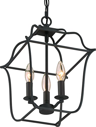 Collection Cobblestone Three Light Fixture - Luxury Colonial Chandelier, Small Size: 14.75