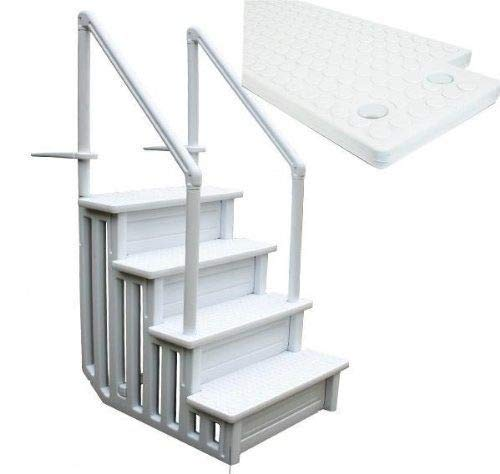 (Above Ground Swimming Pool Ladder Heavy Duty Step System Entry non slippery)