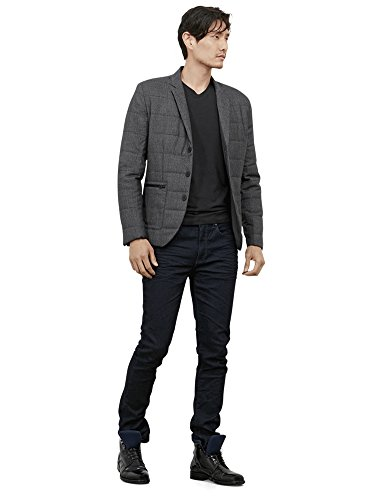 Kenneth Cole REACTION Men's 3 Button Field Blazer, Black Combo, - Button 3 Coat