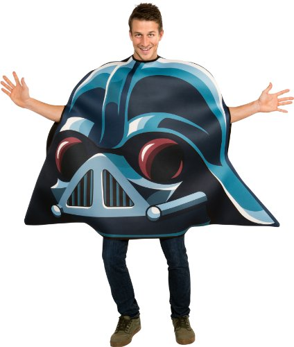 Mens Bird Costumes (Angry Birds Star Wars Darth Vader Adult Costume, Blue, One Size)