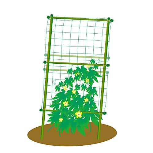 EcoTrellis Garden Trellis for Climbing Plants, Square Vine Bracket for Plant Support, 31.5