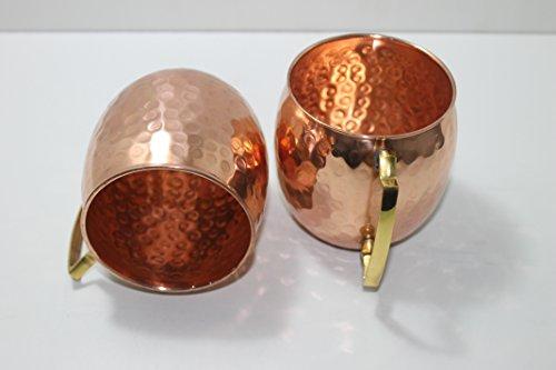 Street craft set of 4 handmade solid copper mug hammered for Kitchen craft cookware reviews