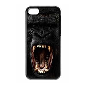 Customized Durable Case for Iphone 5C, Black Gorilla Phone Case - HL-703707