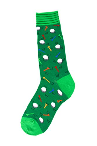 Foot Traffic - Men's Sports-Themed Socks, Golf (Men's Shoe Sizes 7-12)]()
