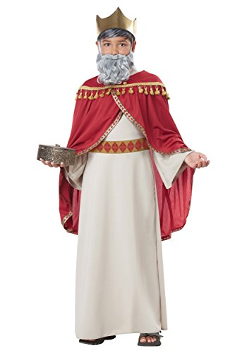 Melchior, Wise Man (Three Kings) - Child Costume Red/Cream
