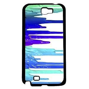 Blue Paint Drip Hard Snap On Case (Galaxy Note 2 II) by icecream design