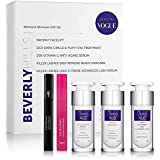 Skin Care Set for Women - Instant Facelift, Anti Aging Face Serum, Eye Cream for Dark Circles, Eyelash Serum, and Black Masca