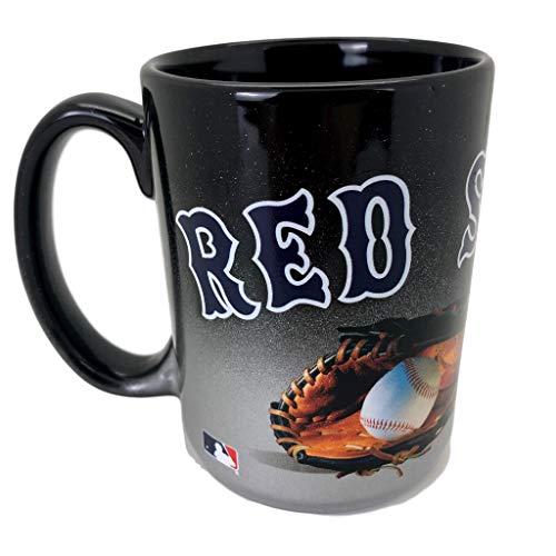 (Boston Red Sox Jumbo 15oz Black & Chrome Glove)