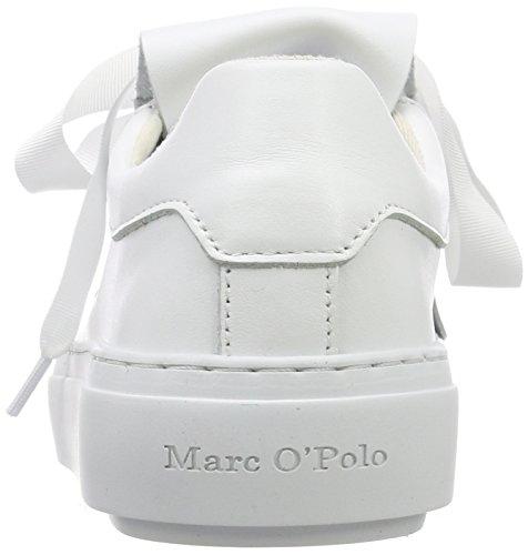 white 100 80214403502102 Baskets Sneaker Marc Blanc Femme O'polo 67H1Y1