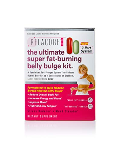 RELACORE Ultimate Super Fat-Burning Belly Bulge Kit, 105 Count (The Best Belly Fat Burning Supplements)
