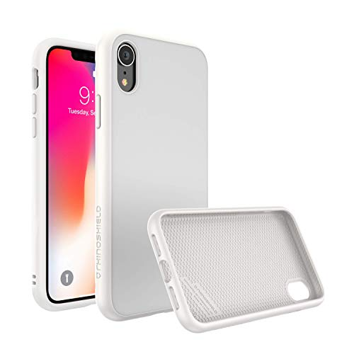 RhinoShield Ultra Protective Phone Case [ iPhone XR ] SolidSuit, Military Grade Drop Protection for Full Impact, Supports Wireless Charging, Slim, Scratch Resistant, Classic White (Best Drop Resistant Phone)