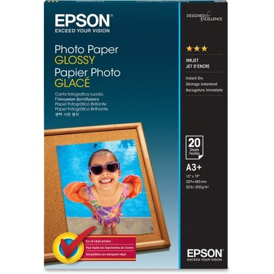 EPSON AMERICA Glossy Photo Paper, 60 lbs, Glossy, 13 x 19, 20 Sheets/Pack (Epson America Photo Paper)