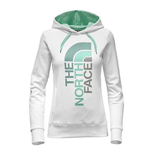 The North Face Women's TriVert Logo Pullover Hoodie,TNF White/Ice Green Multi,US
