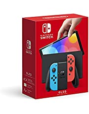 Nintendo Switch OLED with Joycon, color Neon Blue/Neon Red