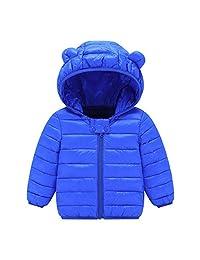 Chlidren Boys Girl Winter Coats Jacket Kids ZipThick Ears Snow Hoodie Clothes