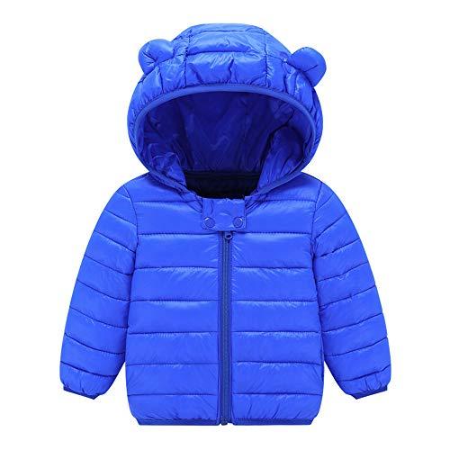 VEKDONE Winter Coats Kids Ear Hoods Light Puffer Jacket Baby Boys Girls, Infants, Toddlers