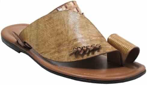 5e1c8d501 Davinci Men s Italian Leather Sandals Push Toe Beige 0182
