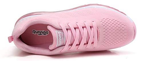Air Sneakers Ginnastica Basse Interior Running Uomo Donna Scarpe Corsa Fitness Casual Rosa Sportive da all'Aperto UxBz5q