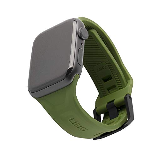 URBAN ARMOR GEAR UAG Compatible with Apple Watch 44mm 42mm Series 5/4/3/2/1 Silicone Band Scout [Olive] Slim Adjustable Waterproof Sporty Replacement Watch Strap
