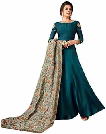 ee26d1d0a6 Designer Abaya style Satin Georgette Anarkali Salwar suit for Women Ready  to wear Indian Women Party
