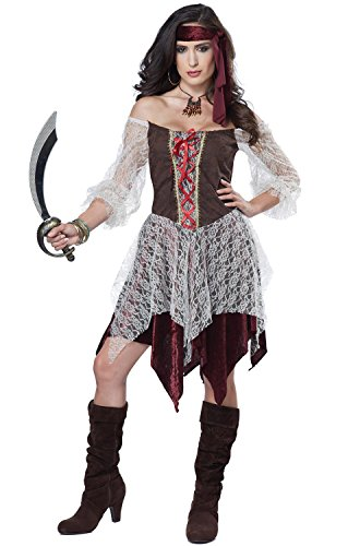 California Costumes Women's South Seas Siren Costume,Brown/Cream,S (Adult Female Pirate Costume)