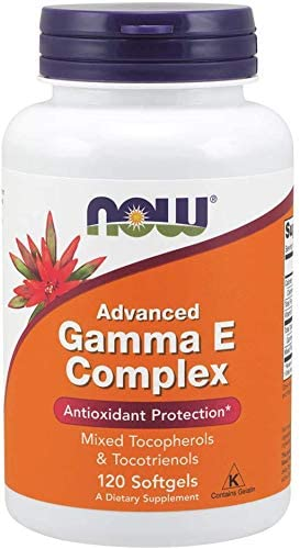 NOW Supplements, Advanced Gamma E Complex, Mixed Tocopherols & Tocotrienols, Antioxidant Protection*, 120 Softgels