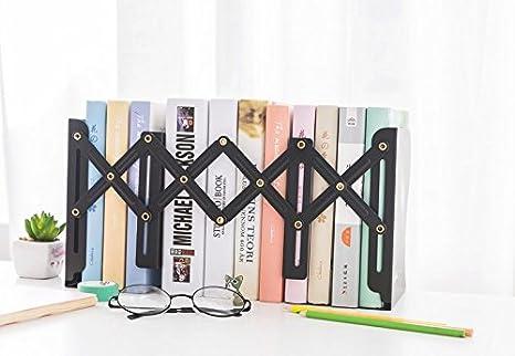 dise/ño moderno y ajustable color Black Sujetalibros de metal decorativo sujetalibros de arte ZYMY antideslizante Yellow