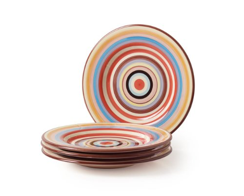 Tabletop Lifestyles 11-Inch Dinner Plate Sedone Stripe, Set of -