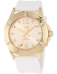 Juicy Couture Women's 1900996 Rich Girl White Silicone Strap Watch