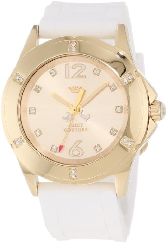 Juicy Couture Women's White Gold Silicone Strap Watch - 2