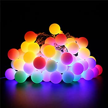 BlueFire LED Ball String Lights with Flashing 31ft 50 LEDs, Waterproof Globe String Light for Holiday Christmas New Year Wedding Gardens Lawns Patios Indoor & Outdoor Decoration (Multicolor)