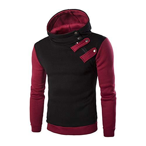 Seaintheson Mens Pullover Hoodie, Men's Novelty Long Sleeve Hooded Sweatshirt Tops Slim T-Shirts Jacket Coat Sport Outwear Black -