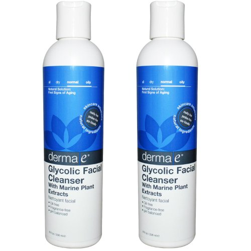 Derma e Glycolic Facial Cleanser with Marine Plant Extract 8oz Set of 2