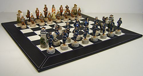 Japanese Samurai Chess Set Hand Painted w/ 18