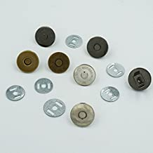 """25 Sets 3/4"""" 18mm Magnetic Snap Round purse closures Clasps Button Bag High Quality Nickle Gold Bronze Nickle-Black Choice"""