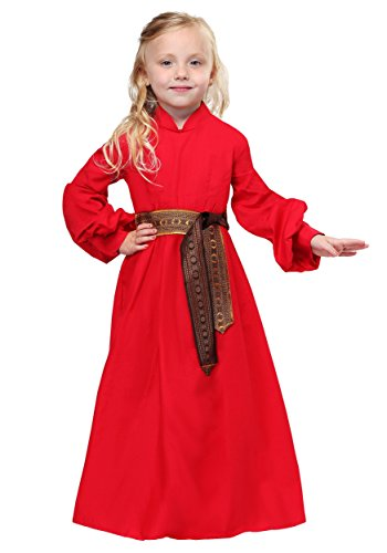 Toddler Buttercup Princess Bride Peasant Dress Costume 4T Red]()