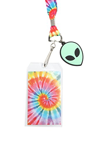 Cheap Hot Topic Rainbow Tie Dye Alien Lanyard
